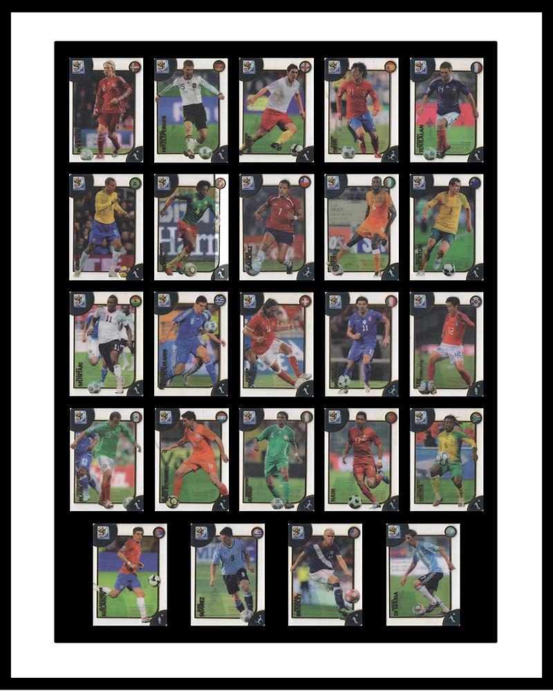 2010帕尼尼南非世界杯胶片球星卡大全套