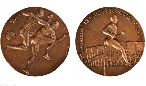 1983年第一届世界田径锦标赛限量版VIP铜章2枚