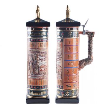 1996年亞特蘭大奧運會立體高浮雕描金(巨型)瓷罐(限量版)1件