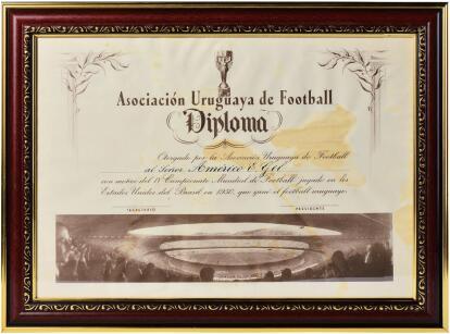 1950年世界杯冠军参赛证书